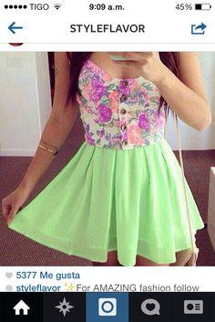 #dress #casual #colores #pasteles #vestido #tierno #moda