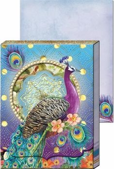 Purple Peacock Diecut Pocket Note Pad - $5.99 - These would make awesome party favors or hostess gifts!