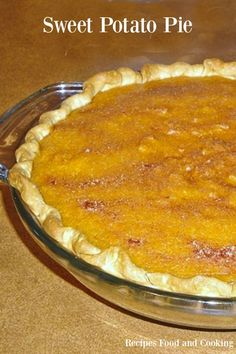 Sweet Potato Pie from Recipes Food and Cooking, Roast your sweet potatoes in the oven first before mixing them up for this delicious pie.
