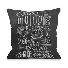 My design inspiration: Mojito Recipe Pillow on Fab.