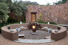 Backyard landscaping, landscaping ideas, fire pit area, fire pit seating, g Garden Fire Pit, Diy Fire Pit, Fire Pit Backyard, Backyard Patio, Sunken Patio, Sunken Garden, Fire Pit Seating, Fire Pit Area, Seating Areas