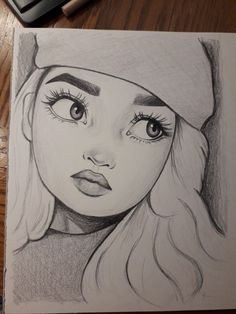 Amazing fan drawing - Art World Disney Drawings Sketches, Girl Drawing Sketches, Art Drawings Sketches Simple, Girly Drawings, Art Drawings Beautiful, Cartoon Girl Drawing, Cartoon Drawings, Drawing Ideas, Pencil Drawing Inspiration
