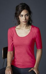 Anvil Triblend Scoop Neck Heather Red