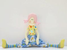 Cloth doll softiestuffed doll textile doll by HappyDollsByLesya, $32.00