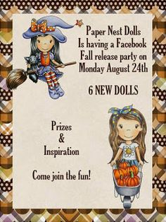 Join The Paper Nest Dolls - Monday for a NEW RELEASE!! Come see all the fall images!!