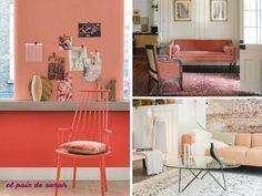 Inspiraciones decoración con el color Peach Echo