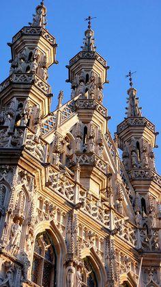 Detalle del ayuntamiento | Lovaina (Leuven), Flandes. Bélgic… | Flickr