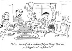 Attorney Confidentiality: Thanksgiving
