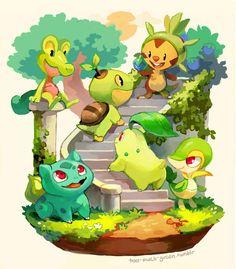 pokemon iniciales tipo planta