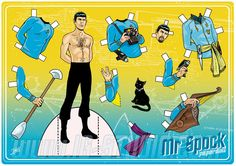 Mr Spock . Paperdoll by soyivang