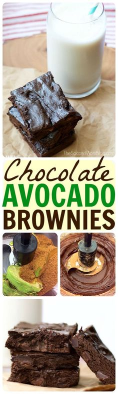 """Just like the """"real thing"""" ...only better!! These chocolate avocado brownies are rich, chewy, and fudge-y (and healthy!) Gluten free & dairy free dessert recipe."""