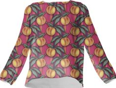 Silk blouse, FRESH PEACHES PATTERN from Print All Over Me