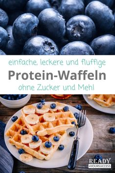 Protein-Waffeln Waffles are a very popular breakfast. If they are also healthy, sugar-free and fluffy - perfect! These waffles without flour are an optimal source of protein even without protein Low Carb Desserts, Healthy Dessert Recipes, Low Carb Recipes, Cookies Healthy, Drink Recipes, Healthy Protein, Protein Snacks, Healthy Sugar, Healthy Nutrition