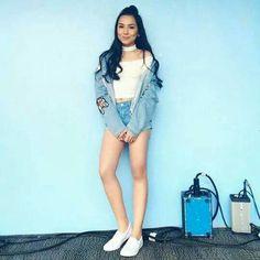 ♡ Pinterest ⇒@KristelMendoza♡ Filipino Girl, Teen Actresses, Filipina, Book Fandoms, Overall Shorts, My Idol, Kai, Crushes, Cute Animals