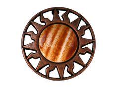 2 Copper Caramel Plastic Shank Buttons Equator 7/8 by ButtonJones, $3.50