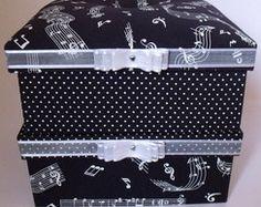 Kit de caixas estampa de música