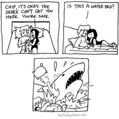 tastefullyoffensive:  [berkeleymews]  Mutha fuckin' Ghost Shark!