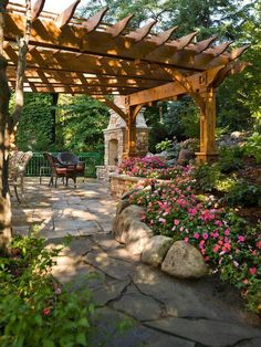 The wooden pergola is a good solution to add beauty to your garden. If you are not ready to spend thousands of dollars for building a cozy pergola then you may devise new strategies of trying out something different so that you can re Wooden Pergola, Backyard Pergola, Pergola Kits, Backyard Landscaping, Pergola Ideas, Patio Ideas, Pergola Roof, Cheap Pergola, Patio Kits