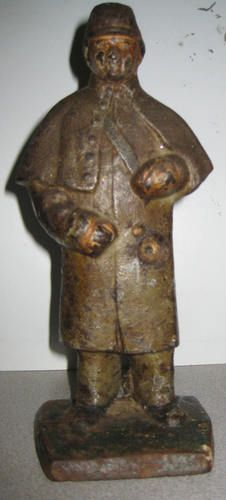 Antique Civil War Union Soldier Cast Iron Door Stop