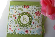 Stampin Up Monogramed Note Card Set of 8 by MakingLifeCreative, $12.00