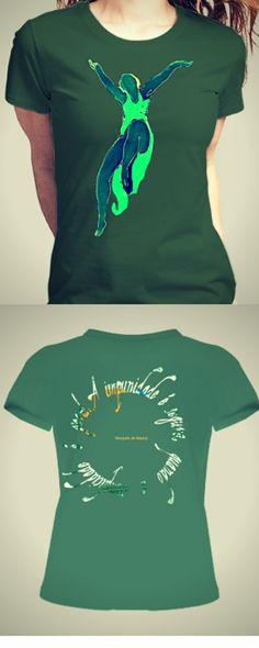 Isadora Duncan T-shirt, com  reflexão na parte de trás. http://www.vitrinepix.com.br/marquesmarica