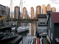floating houses vancouver yachts Sink Or Float, Floating Homes, Luxury Yachts, British Columbia, Vancouver, Boats, New York Skyline, Houses, Lifestyle