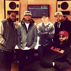 Eminem with Slaughterhouse. I meet these guys last year. Shady 2.0
