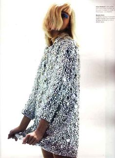 32 Super ideas for party fashion editorial sasha pivovarova Knit Fashion, Look Fashion, High Fashion, Trendy Fashion, Balmain, Sasha Pivovarova, Craig Mcdean, Glitter Fashion, Mode Inspiration