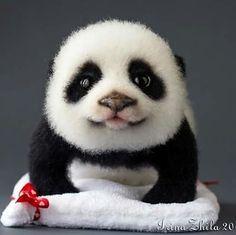 "175 Likes, 10 Comments - Irina Zhila (@irinazhila) on Instagram: ""Сладкий малыш получился) Little panda made by the method of felting wool. Size: length 25 cm,…"""