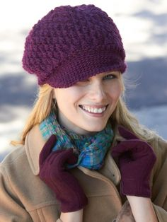Brimming with Texture Hat - Free Crochet Pattern at Yarnspirations