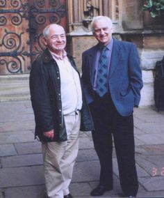 "Colin Dexter author of Morse & Lewis tv series and books, and John Thaw as ""Morse"" Inspector Lewis, Inspector Morse, Detective Series, Mystery Series, Bbc Tv Shows, Movies And Tv Shows, Lewis Tv Series, The Sweeney, Endeavour Morse"
