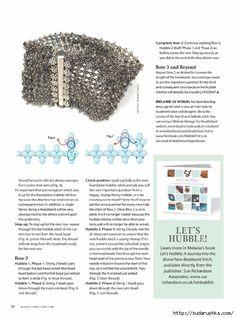 Beadwork (p Designer: Materials: Beaded Braclets, Beaded Bracelet Patterns, Beading Patterns, Beading Techniques, Beading Tutorials, Beaded Jewelry Designs, Handmade Jewelry, Bead Jewelry, Right Angle Weave