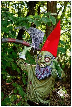Gunnar's costume 2011.  Zombie gnome
