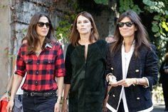 It's always the French girls.... Capucine Safyurtlu, Claire Dhelens and Emmanuelle Alt