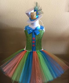 Mad hatter tutu dress by SimiPrincessBoutique on Etsy