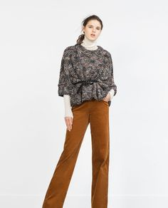 PONCHO WITH THREAD DETAILING-View all-Woman-NEW IN | ZARA United States