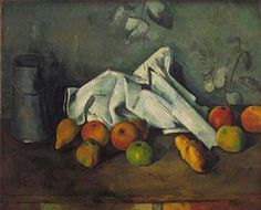 """Milk Can and Apples"" by Cezanne - if you're in San Francisco, see it in person at the DeYoung Museum as part of the visiting Paley Collection exhibit."