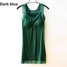 7 Colors Quality Modal Nightgown Women Sleepwear Lace Solid V-Neck Nightdress Sleepshirts Camisolas De Dormir#K12