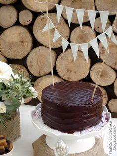 Festa Simples  - Bolo de Chocolate