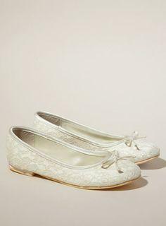 Pippa Lace Ballerina Bridesmaid Shoe - child bridesmaid shoes - shoes - Wedding