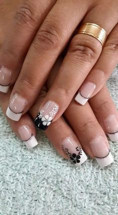70 Trendy Spring Nail Designs And Colors Inspire You 2019 - - French Manicure Designs, Nail Designs Spring, Nail Art Designs, Nails Design, French Nails, Nagel Hacks, Nagel Gel, Flower Nails, Beautiful Nail Art