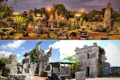 """Weird Homes: Coral Castle Location: Miami, Florida Price: Not on the market Claim to Fame: Billy Idol's 1986 hit """"Sweet Sixteen"""" was a tribute to the Coral Castle and its creator, and the video was shot at the Castle. About: Ed Leedskalnin spent 28 years secretly working alone, mostly at night, with just hand"""