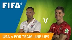 USA v. Portugal Team, Brazil World Cup, Full Match, Who Will Win, Fifa, Baseball Cards, Sports, Hs Sports, Sport