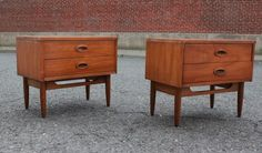Pair Danish Mid Century Modern Commode Nightstands  Asking $650 with 65 s