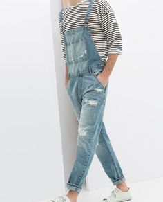 cool overalls from Zara. Cool Outfits, Casual Outfits, Men Casual, Fashion Outfits, Overalls Fashion, Fashion Ideas, Mode Man, Korean Fashion, Mens Fashion