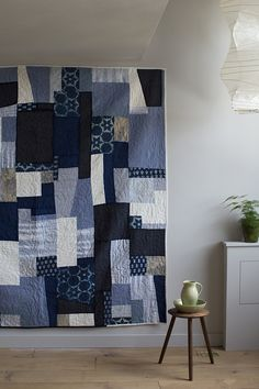Original quilt by Cassandra Ellis (UK) made with reused and new fabrics