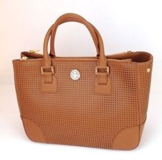 Tory Burch Nwt Perforated Double Zip Tote Bag $365