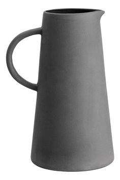 Stoneware pitcher with a glazed interior spout at top and a handle. Diameter at top 2 in. height 8 in. Ceramic Pitcher, Ceramic Bowls, Ceramic Art, Stoneware, Pottery Teapots, Ceramic Pottery, Slab Pottery, Kitchenware, Tableware
