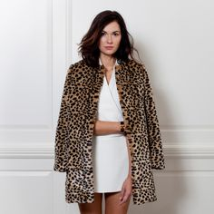 Leopard Jacket $425 from 2 Penny Blue // Gifts for the Trendsetter
