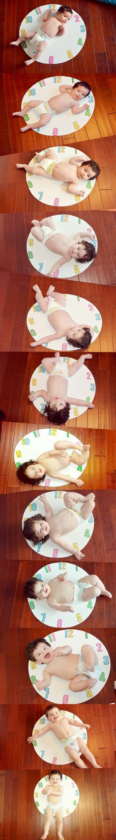 Baby monthly picture ideas clock time